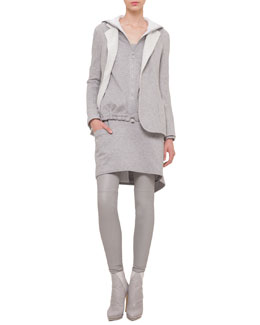 Bicolor Silk Fleece Reversible Jacket, Bicolor Reversible Hooded Sweatshirt & Scoop-Neck Apron Dress
