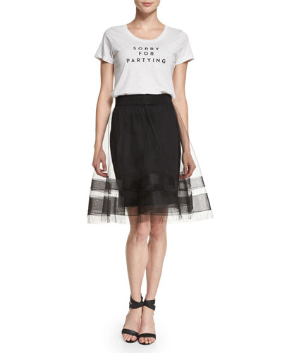 Sorry for Partying Tee & Tulle Midi Skirt