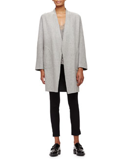 Singer Bemberg® Cupro Coat, Izabella Lace-Trim Silk Tank & Simone Stretch Ankle Pants