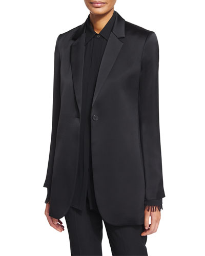 Dalingwood One-Button Splendor Jacket & Niteesh Long-Sleeve Top