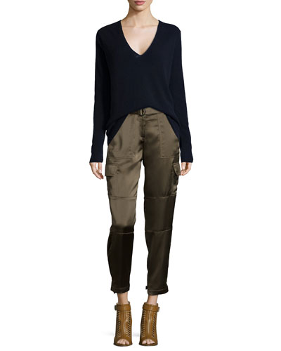 Adrianna R. Cashmere Sweater & Hannon B. Cropped Splendor Pants