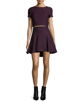 Jacquard Sarina Crop Top & Sibel High-Low Skirt
