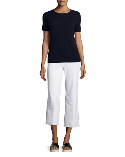 Tolleree B Short-Sleeve Cashmere Sweater & Rabeanie Jetty Ponte Pants