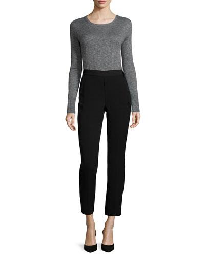 Fine-Gauge Slub Crewneck Sweater & Easy Pull-On Pants