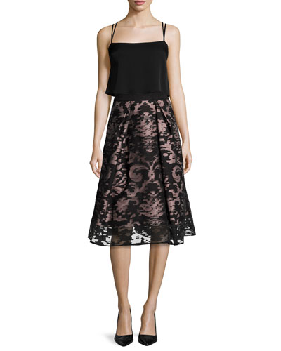 Emery Silk Camisole & Katie Fil Coupe Skirt