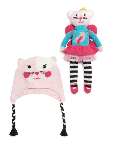 Knit Cat Hat & Doll