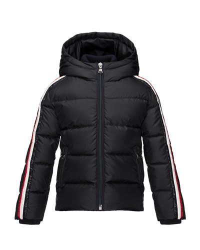 Odile Hooded Down Coat, Navy