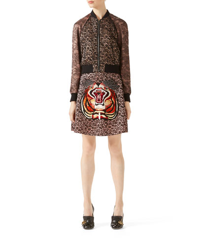 Lace/Viscose Bomber & Skirt