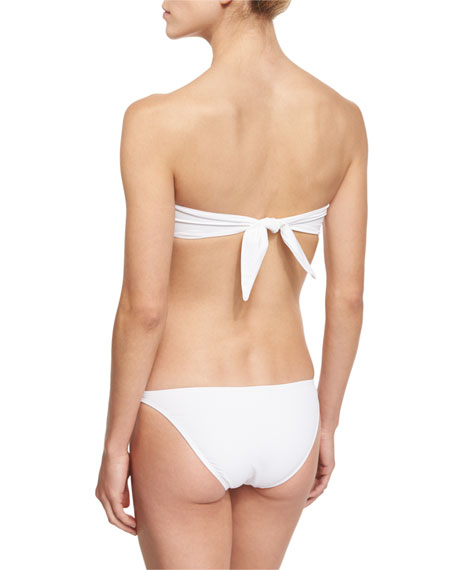 Gathered Halter Swim Top