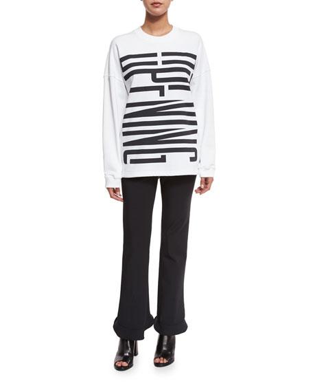Cozy Stretch Logo Sweatshirt, White