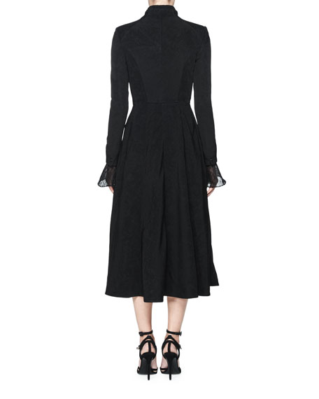 Treves Single-Breasted A-Line Dress Coat, Black
