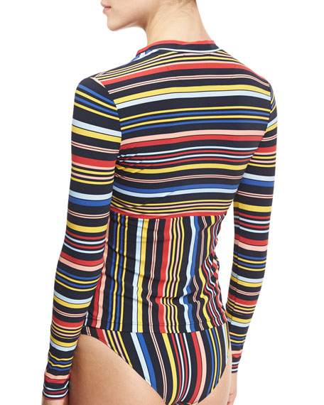 Striped Classic Bikini Swim Bottom