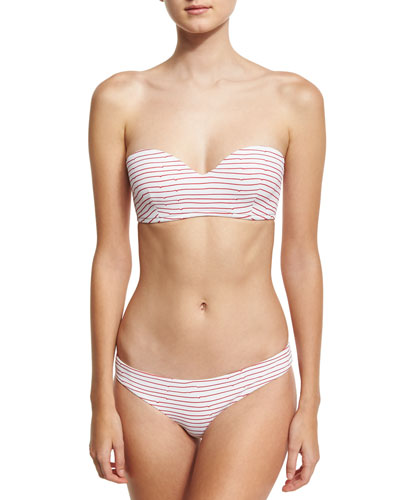 Lily Textured Hipster Swim Bottom, Red/White and Matching Items