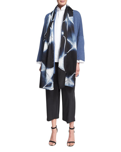 Hand-Dyed Shibori Silk Scarf and Matching Items