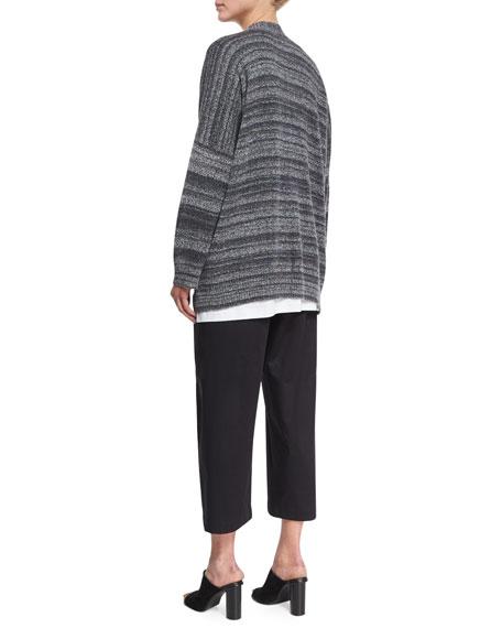 Long-Sleeve Crewneck Cotton T-Shirt