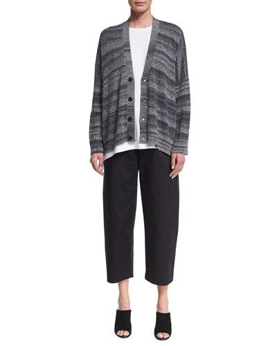 Handkerchief Linen Shawl, Gray and Matching Items