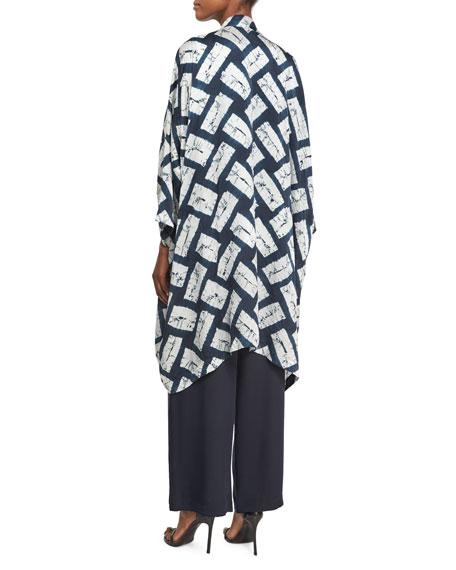 Bateau-Neck Textured Tunic