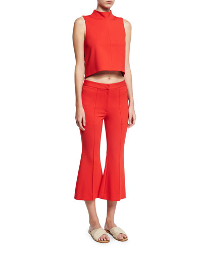 Tailored Ponte Sleeveless Top, Red and Matching Items