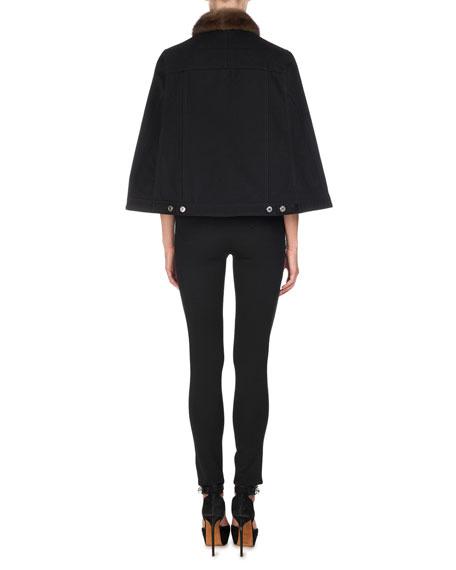Five-Pocket Jersey Leggings, Black