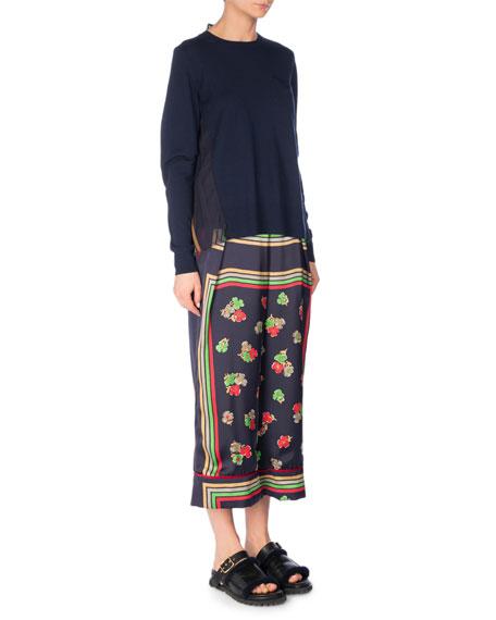 Cropped Floral-Print Pants, Multi