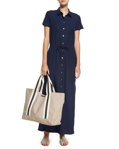 Hamptons Maxi Shirtdress, Blue  and Matching Items