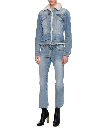 Shearling-Lined Denim Jacket, Blue and Matching Items
