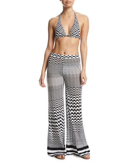 Greca Bicolor Two-Piece Bikini Set, Multi