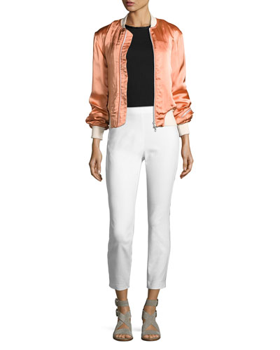 Morton Sateen Bomber Jacket, Pink and Matching Items