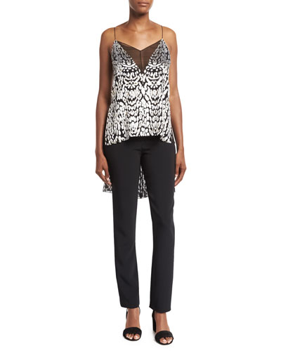 High-Low Illusion-V Cami Top, Black Pattern and Matching Items