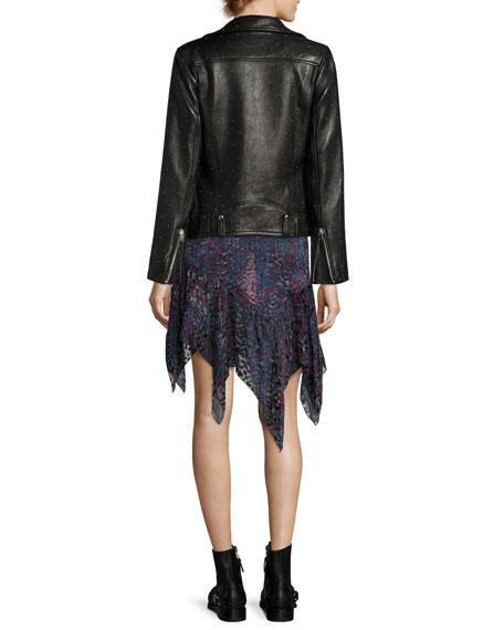 Vamy Studded Leather Jacket, Black