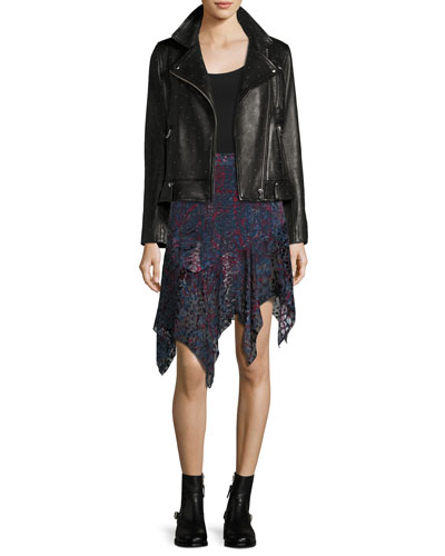 Vamy Studded Leather Jacket, Black and Matching Items