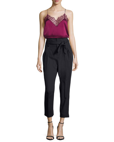 Berwyn Silk Camisole Top, Red and Matching Items