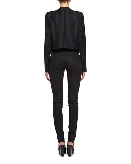 Denim Skinny Jeans, Black