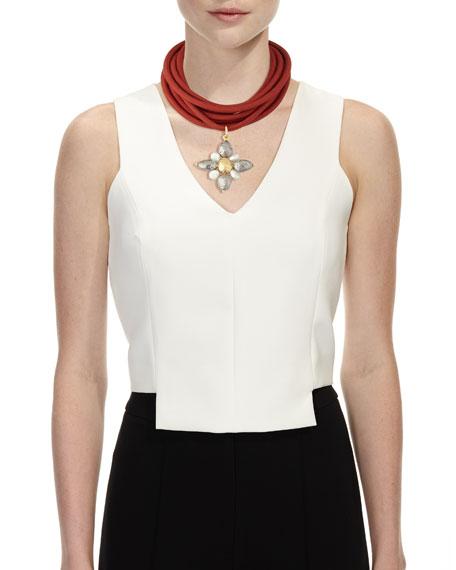 Multi-String Silk Cord, Red