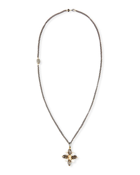 Double Link Chain Necklace with Nugget