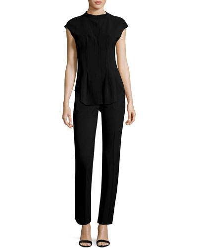 Narthus Pleated Admiral Crepe Top and Matching Items