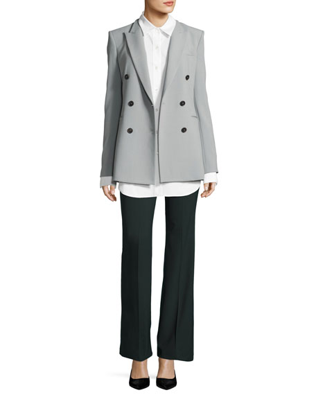 Poplin Long-Sleeve Boy Tunic, White