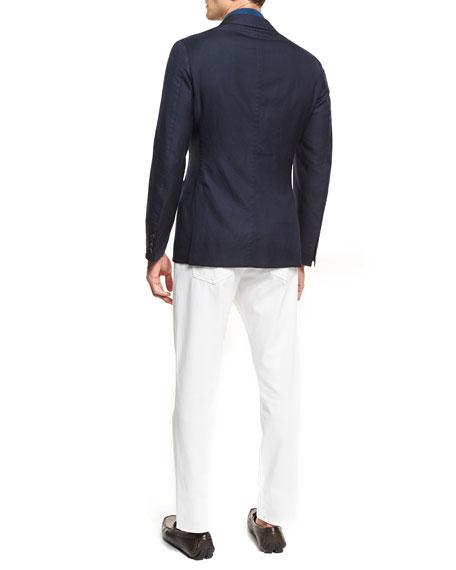 Slim-Straight Denim Jeans, White