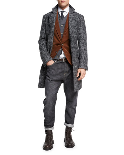 Fine-Gauge Wool-Cashmere Cardigan Vest and Matching Items