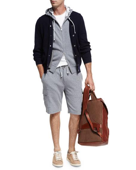 Spa Cargo Sweat Shorts, Medium Gray