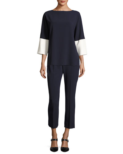 3/4-Sleeve Colorblock Tunic and Matching Items