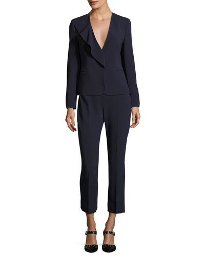 Cropped Straight-Leg Pants and Matching Items