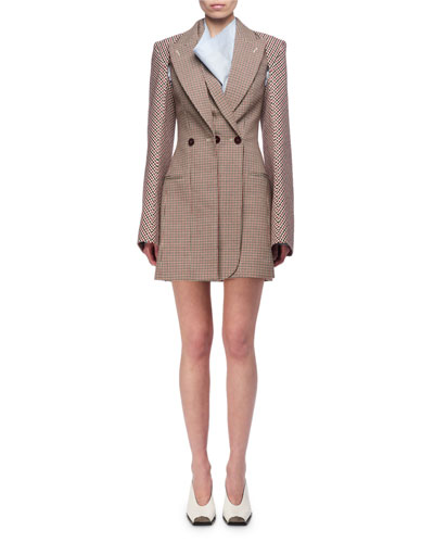 Check Wool Blazer Dress and Matching Items