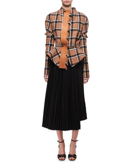 Fitted Check Flannel Jacket