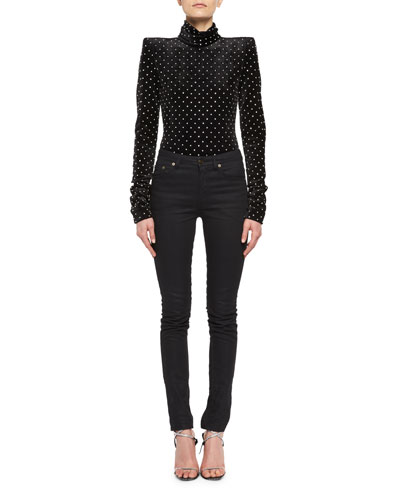 Mid-Rise Skinny Jeans, Black and Matching Items