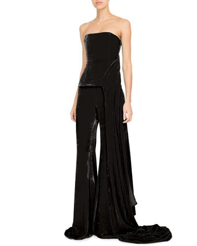 Wide-Leg Velvet Pants and Matching Items