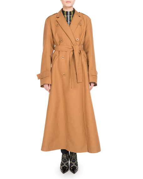 Long Double-Breasted Trenchcoat