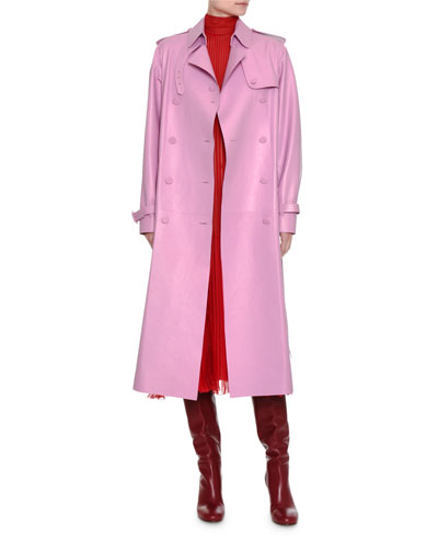 Double-Breasted Leather Trenchcoat and Matching Items