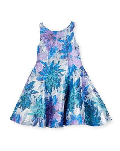 Blue Dahlia Metallic Floral Brocade Dress, Size 2-6X and Matching Items