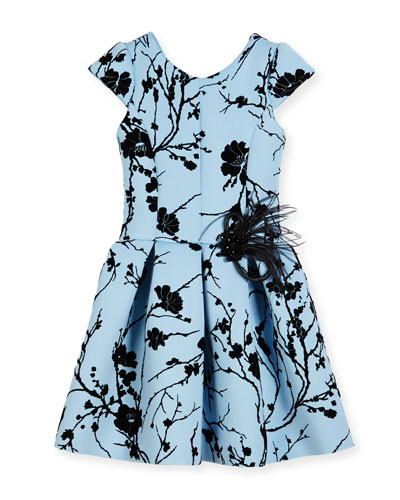 Sky Silhouette Box-Pleated Dress, Size 2-6X and Matching Items